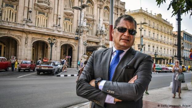 Portraitfoto: Rafael Correa, ehemaliger Präsident Ecuadors (Getty Images/A. Roque)
