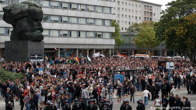 Chemnitz - Proteste nach Todesfall (Getty Images / AFP / O. Andersen)