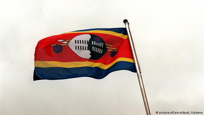 The flag of Swaziland - now known as eSwatini