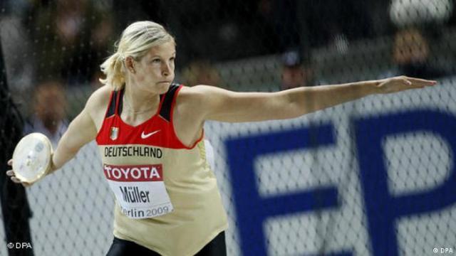 Leichtathletik-Weltmeisterschaft 2009, Diskuswerferin Nadine Müller