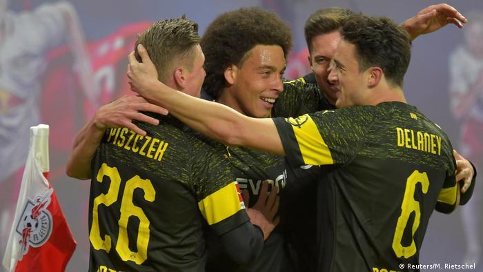 Bundesliga 18th matchday |  RB Leipzig vs.  Borussia Dortmund |  TOR Dortmund (Reuters / M. Rietschel)