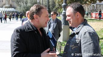 Активісти Об'єднання Петро Варцаба (л) та Андрій Модрицький (п)