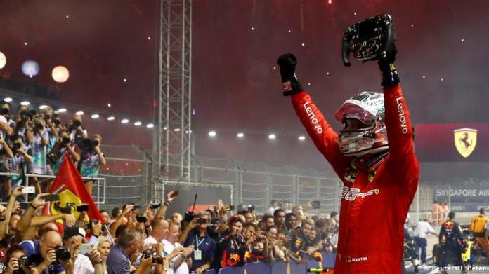 Formula 1: Sebastian Vettel claims Singapore GP ahead of Ferrari ...