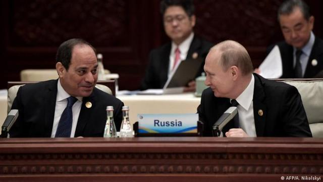 Egyptian President El-Sissi and Russian President Putin