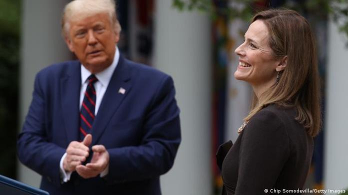 Donald Trump unveils Amy Coney Barrett as his choice for the Supreme Court (Getty Images)