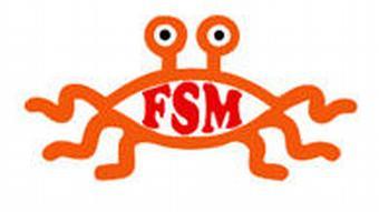 Fliegendes Spaghettimonster Flying Spaghetti Monster FSM Logo