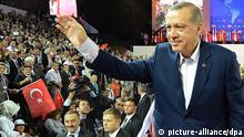 Turkey's Prime Minister Recep Tayyip Erdogan greets supporters at a political party conventionPhoto: EPA/KAYHAN OZERI/ANADOLU AGENCY +++(c) dpa - Bildfunk+++pixel