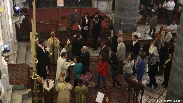 Gottesdienst syrischer Christen (Foto: LOUAI BESHARA/AFP/Getty Images)