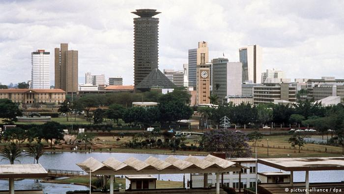 Jomo Kenyatta Center and Kenyan parliament in Nairobi