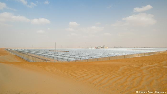 SHAMS1 thermische Solarkraftwerk in Abu Dhabi