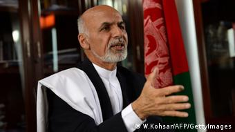 In this photograph taken on April 14, 2014, Afghan presidential candidate Ashraf Ghani Ahmadzai speaks during an interview with AFP at his residence in Kabul. Afghan presidential hopeful Ashraf Ghani says his country needs a special relationship with the Taliban's old backers Pakistan, similar to that of Post-War France and Germany, to resolve ongoing instability.
