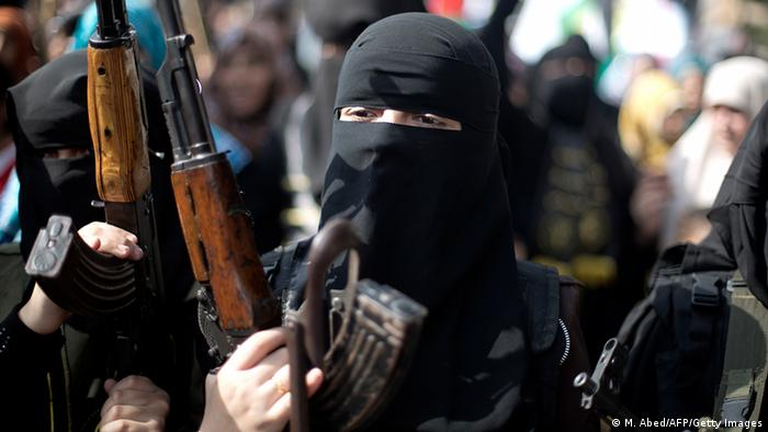 Female jihadist fighter