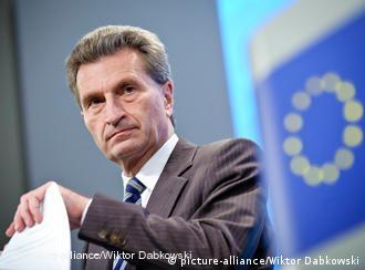 Günther Oettinger, EU energy commissioner