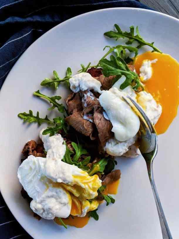 Eggs Benedict with Horseradish Aioli