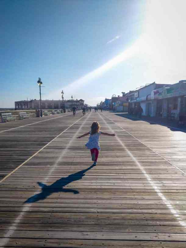 My oldest running down the OCNJ boardwalk