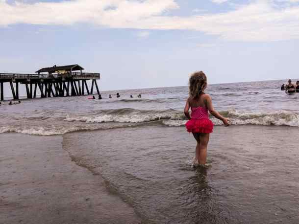 Feeling the warm waters of Tybee Island for the first time
