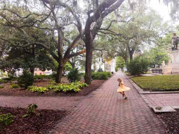 Walking the streets of Savannah, GA