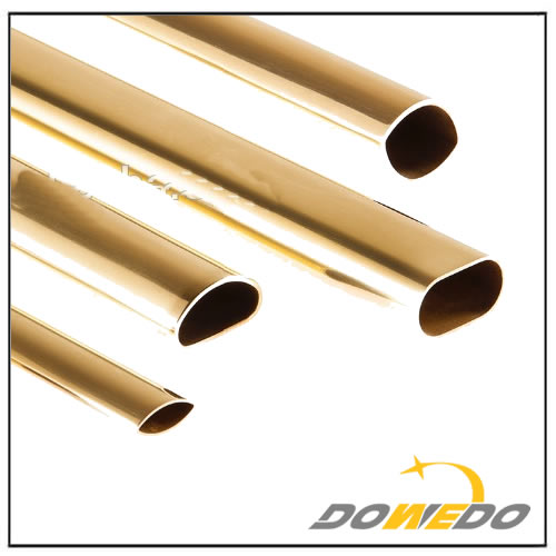 Oval Shape Brass Tubes Pipes