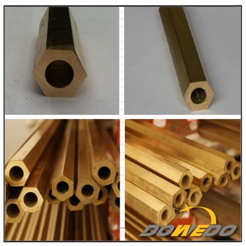 Hexagonal Brass Pipe