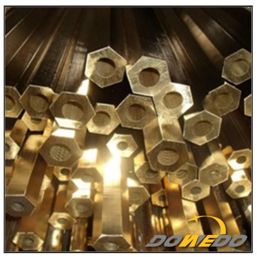 Thin Walled Hexagon Brass Tube