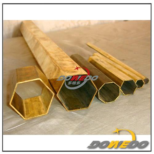 Hexagonal Brass Tube