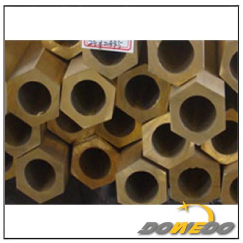 Hexagonal Hollow Brass Tube