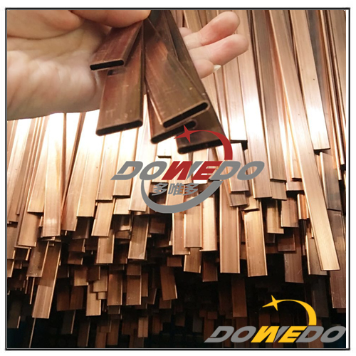 Flat Oval Seamless Copper Tube