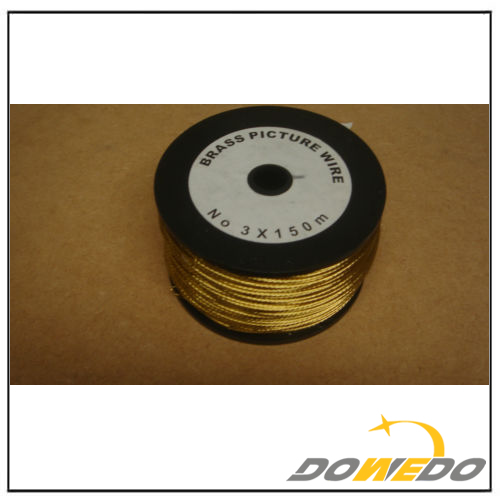 Brass Picture Wire 150m reels no 3