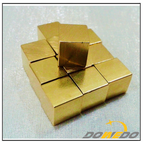 Square Brass Cubes