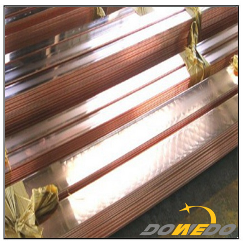 Solid Flat Copper Rectangle Bar