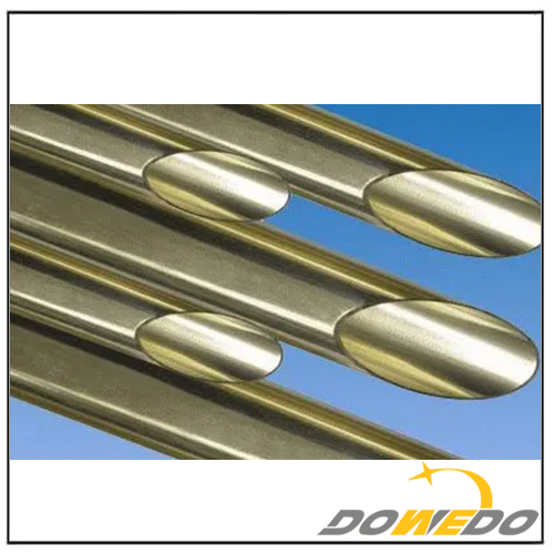 Aluminum Brass Pipes Oval-shape