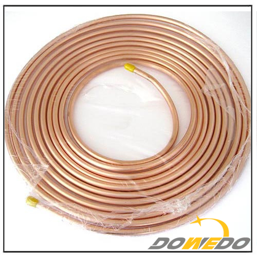 Copper Pipe Pancake Pair Coils Insulated Copper Tubes for Air Conditioner