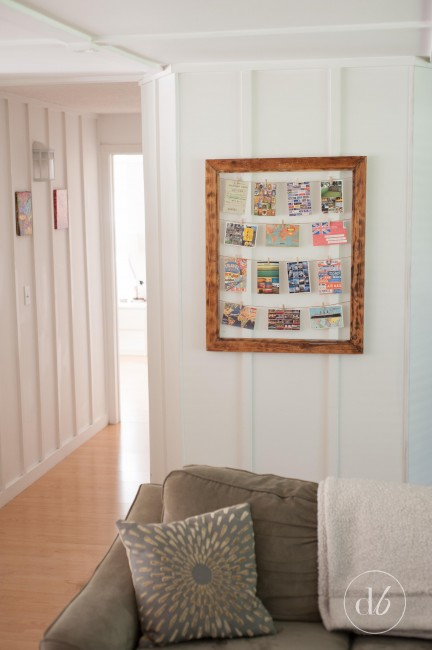 clothespin photo display