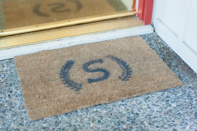 stenciled mat