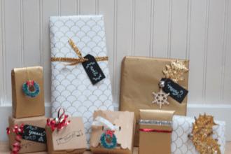 DIY Christmas gift wrap ideas