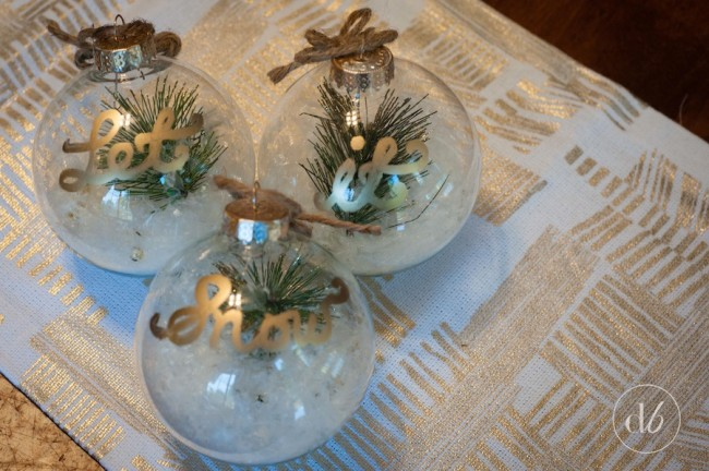 Let It Snow Ornaments December Diy Challenge Dwell