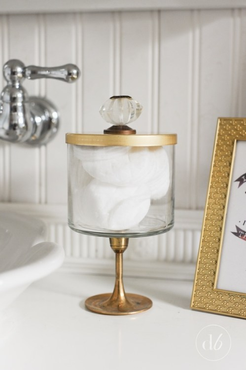 candle jar craft bathroom storage