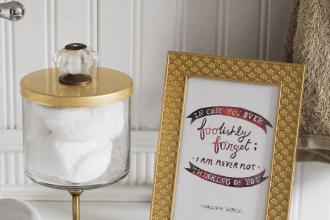 candle jar craft bathroom storage