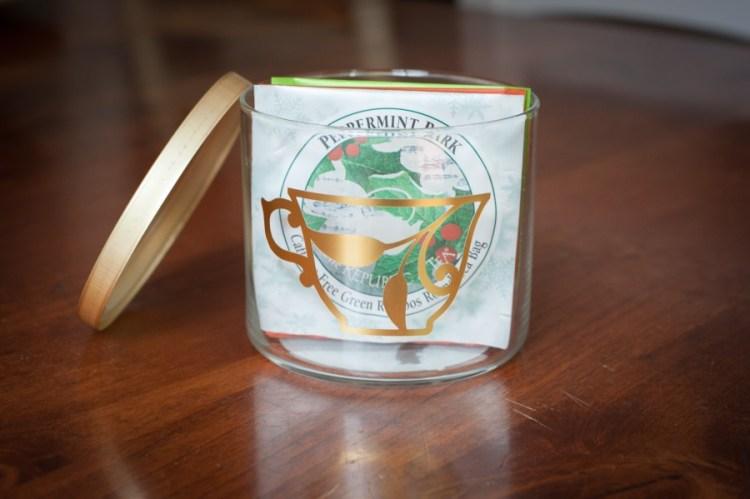 tea canister labels