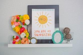 you are my sunshine printable art