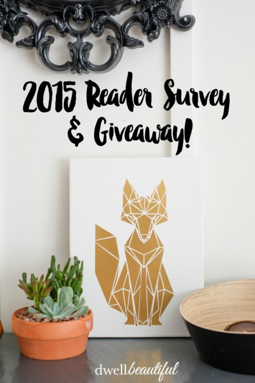 survey and giveaway