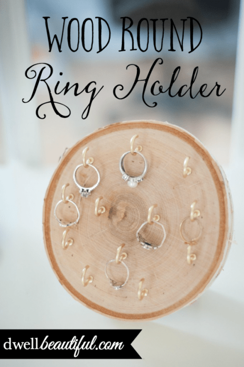 wood round ring holder