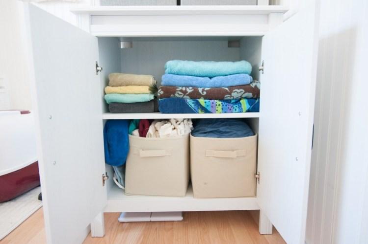 ikea linen closet makeover