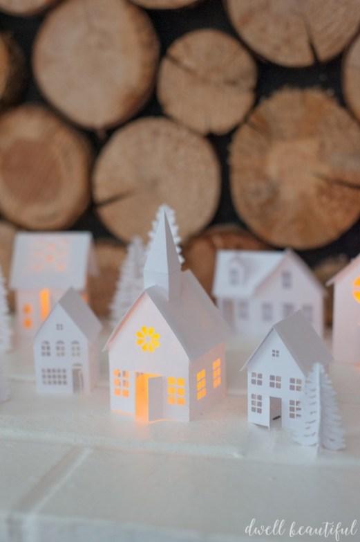 paper christmas village