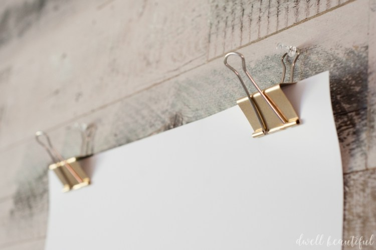 monthly diy challenge: gold poster clips