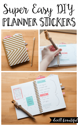 super easy diy planner stickers