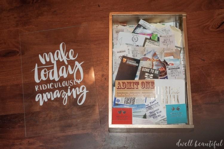 wayfair craft redux ticket memory box