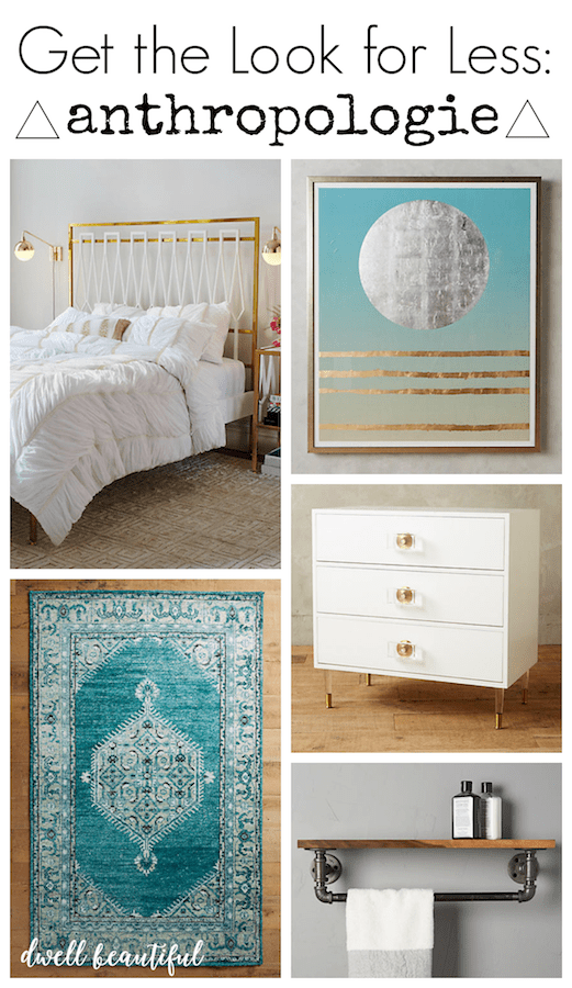 anthropologie home decor for less