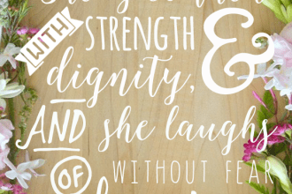 clothed with strength and dignity printable