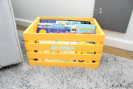 diy kids book crate